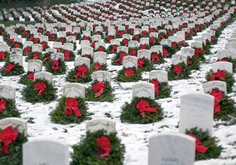 アーリントン国立墓地の冬