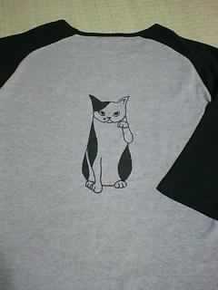 まねきねこラグランTシャツ