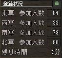 西軍ストライキ決行中