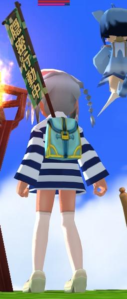 囚人服のパジャマ(うしろ)