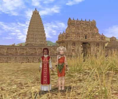 寺院前で記念撮影