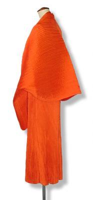 パーティーボレロ 大判ショール チャイナボタンで可愛いフォルムと優雅なラインを ソアフルオレンジ6番色