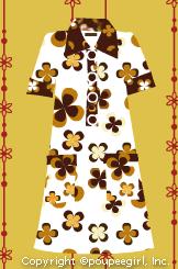 60'sテイストミニワンピ