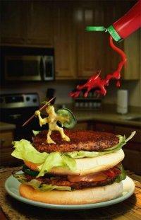 戦うハンバーガー