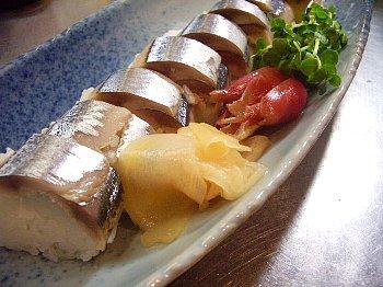 〆さんま棒寿司