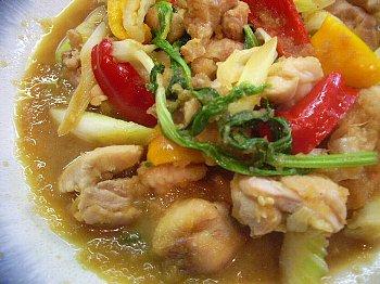 鶏とセロリのおろし煮