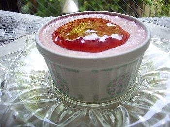 苺の豆腐レアチーズ