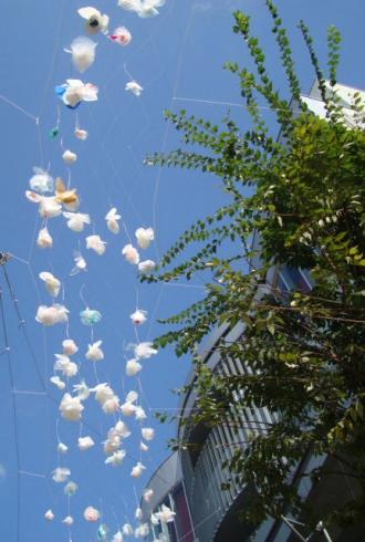レジ袋の花