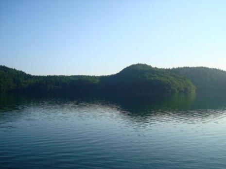 青木湖~快晴の朝