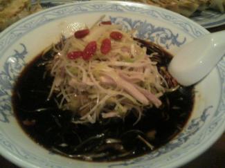 黒酢冷やし麺