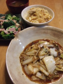 002白菜生姜焼き