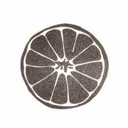 オレンジ円カット