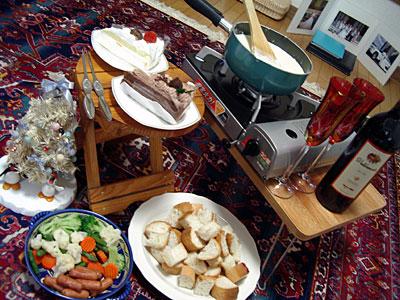 クリスマスディナー チーズフォンデュ