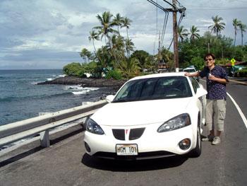 ハワイ島3日間のレンタカー