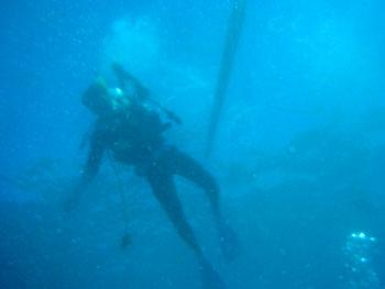 ハワイ島ダイビング にっしー楽しそう