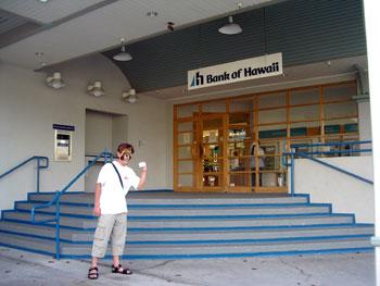 ハワイ銀行で現金ゲット