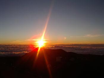 マウナケア山頂 星空観測ツアーレポ 夕日