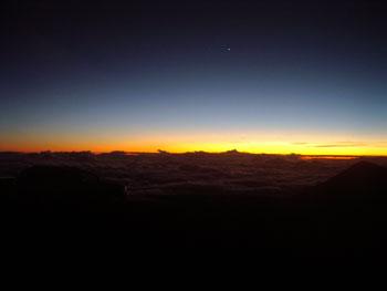 マウナケア山頂 星空観測ツアーレポ 日没と星