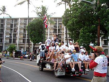 ハワイ島 トライアスロン パレード