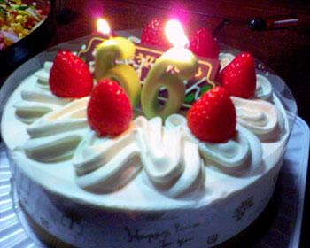 66歳お誕生日ケーキ