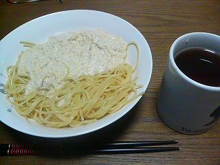 ホワイトソーススパゲティ