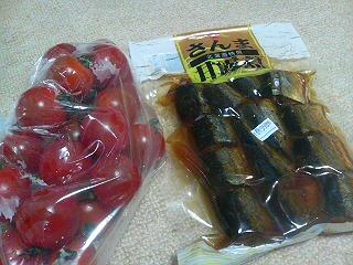 ミニトマトと甘露煮