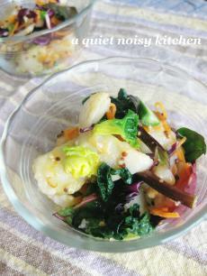 里芋と彩り野菜の粒マスタードサラダ