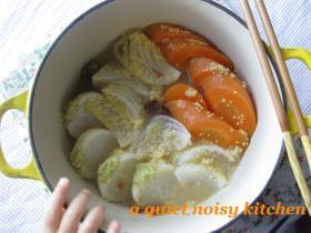 春野菜たっぷり・つぶとろ梅煮。