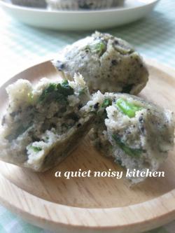 青菜のごま塩蒸しゴパン2