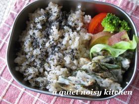 米粉のニラチヂミ弁当