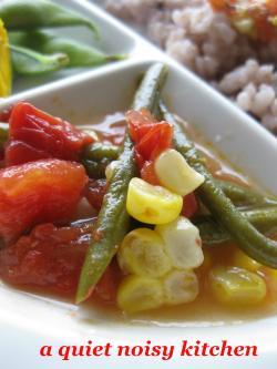 夏野菜のカラフル重ね煮