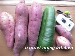 2種類のさつま芋と加賀太きゅうり