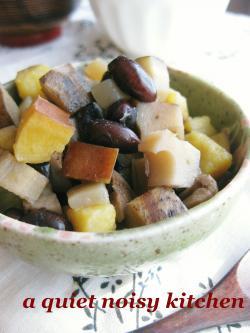 秋色五目豆の煮物