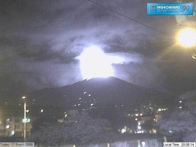 ガルラス火山の噴火