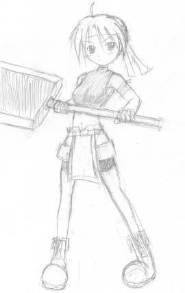 鉄板のような剣