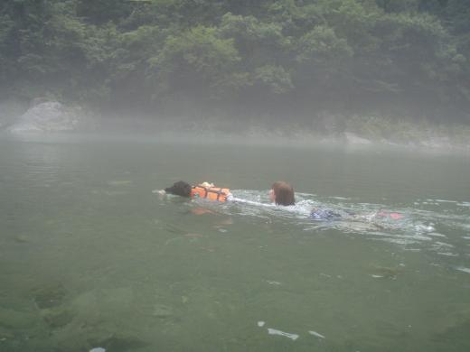 川遊び14 なつきとラン