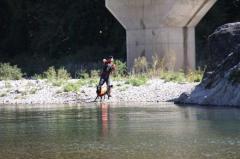 川遊び29 父とラン1