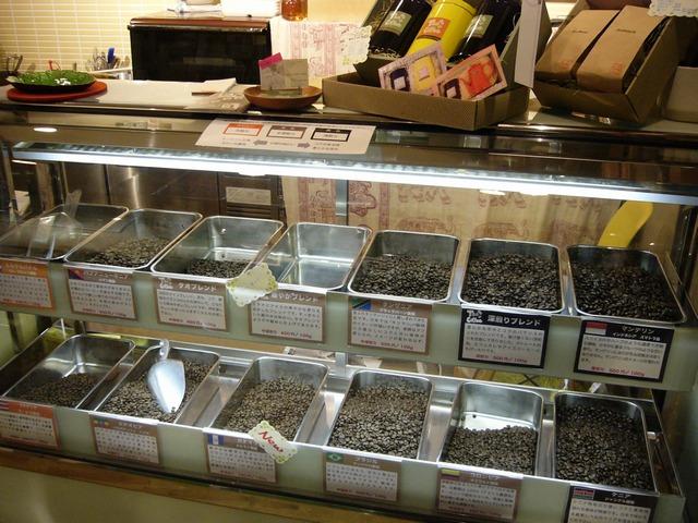 タオコーヒーコーヒ豆ショーケース