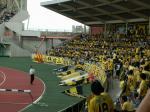 黄色いゴール裏との再会シーン