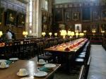 ハリーポッターの撮影に使われたらしい長い食卓