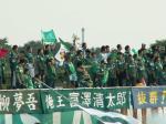 緑の風船で対抗(?)するヴェルディサポ