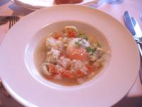 ニョッキを浮かべた野菜スープ