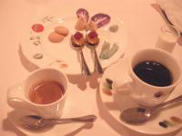 食後のコーヒーとお口直し