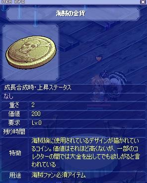 海賊の金貨