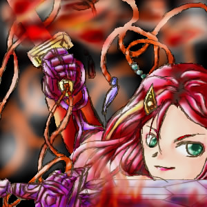 紅き戦姫ぴぃの シュウレイ画伯の絵