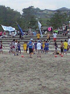 ビーチサッカー試合中②