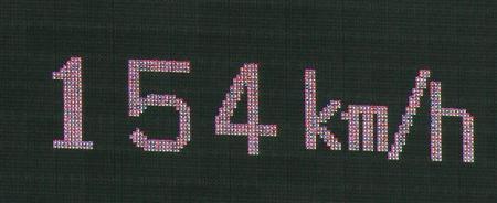 154km/h