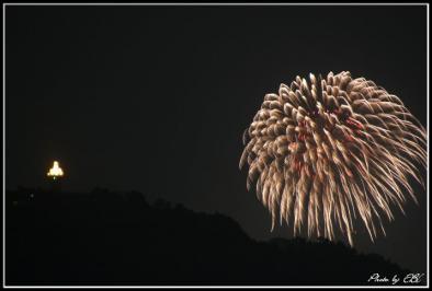 霧島市、市制3周年記念花火