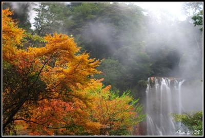 丸尾の滝紅葉