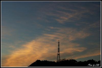08.12.26 鉄塔と夕焼け